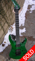 Robin Medley Swamp Ash - Transparent Green